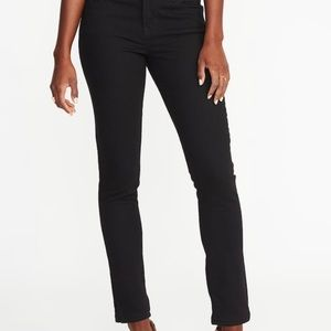 Old Navy curvy, mid rise black jeans. 10 Long